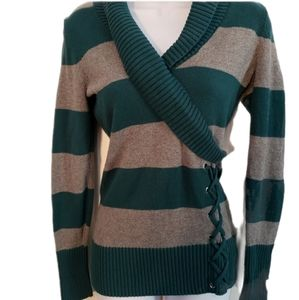 Guess wrap sweater with lacing
